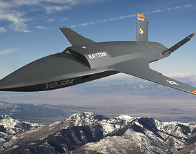 3D model XQ-58 Valkyrie
