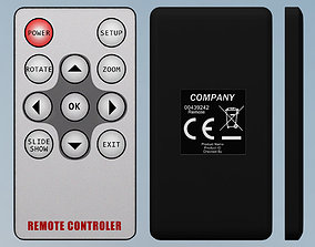 3D model Remote controller battery
