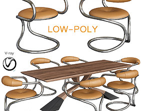 Table Basse Carton Belle low poly 3D model
