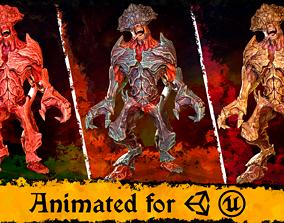 Spiked Monster 3D asset