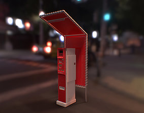 Japanese Parking Meter - PBR Game Ready 3D asset