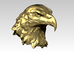 Eagle head bust statue Detailed Realistic 3D print model