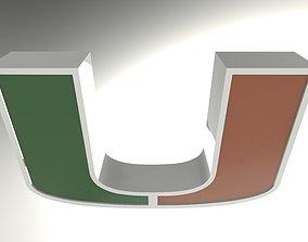 3D University of Miami Logo