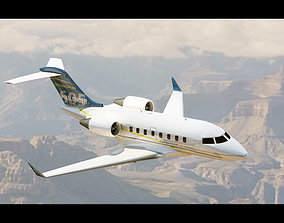 Challenger 605 Midsize Jet 3D asset VR / AR ready