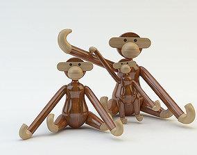 Kay Bojesen Monkey 3D