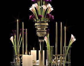 3D Flower Vase Set