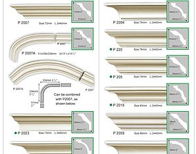 Cornice reference image big pack 3D model