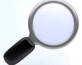 3D asset Magnifying Glass icon