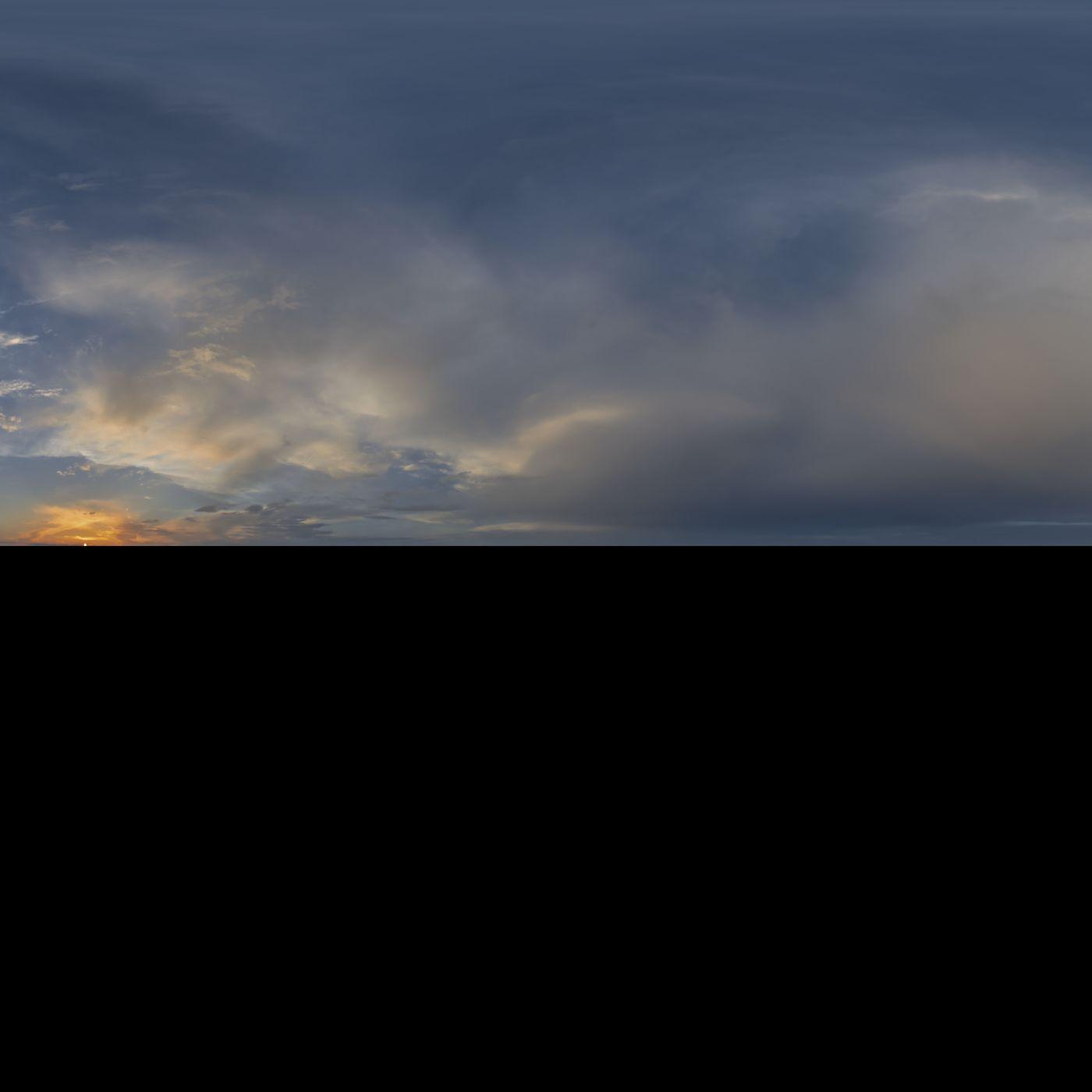 skydome HDRi sunset