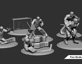 3D printable model Ice Hockey Player Goalie Collection 6