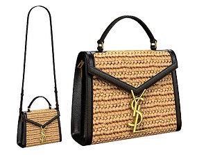 YSL Saint Laurent Cassandra Mini Top Bag Bicolor 3D asset