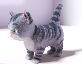 3D asset Hair Fur Cute Cat