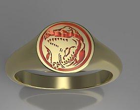 Red Power Ranger Signet Ring 3D print model rings
