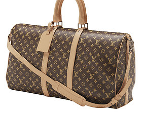 Louis Vuitton Monogram Keepall Bandouliere 55 3D model