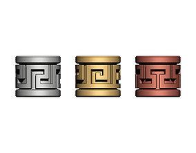 Greek key Tube Beads and Charms 3D printable model