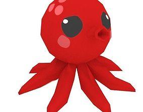 Cute Low Poly Octopus 3D asset
