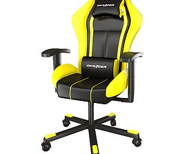 3D model dx racer yellow