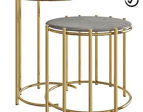 Messina Nesting Side Tables 3D asset