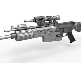 3D model Blaster rifle A280-CFE from the movie Rogue One