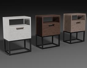 3D model A set of modern bedside tables
