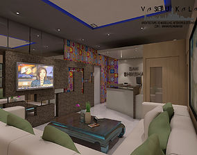 3D model Coaching Reception And Waiting Hall