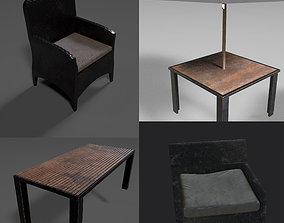 3D asset Complete garden pack furniture used