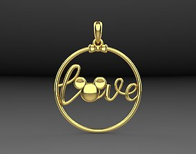 Pendant love Mickey Mouse 3D printable model