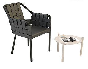 varaschin Varaschin obi chair bahia side table 3D model