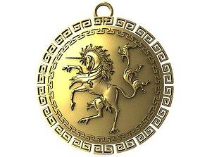 3D print model Unicorn pendant jewelry