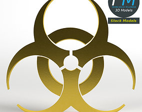 Biohazard symbol 3D model