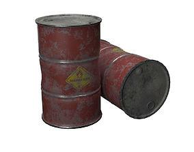 container Metal oil Barrel 3D
