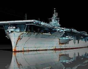 3D asset USS Essex CV-9