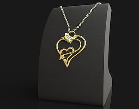 3d printable Heart Pendant silver