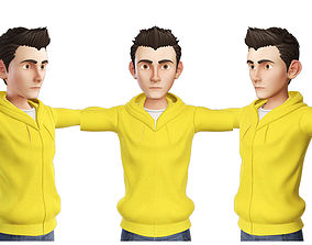 3D Teens Boy Yellow