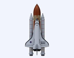 3D model low-poly Space Shuttle Atlantis