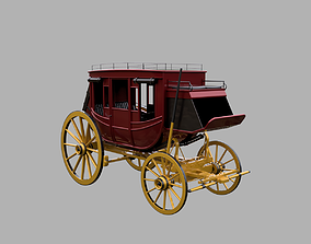 Wild west Concord Stagecoach 3D model