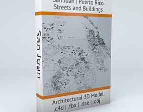 3D juan San Juan Puerto Rico Streets and Buildings
