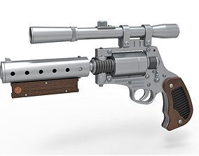 3D model Tobias Beckett Blaster DG-29 from Solo A Star 2
