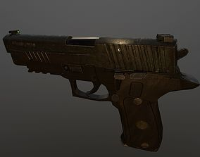 Worn out P226 Legion 3D model low-poly