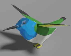 3D model Cartoon Hummingbird