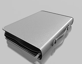 3D model Gray Leather briefcase 01