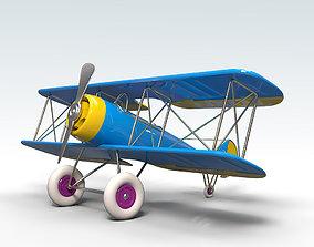 3D asset Toy Airplane PBR