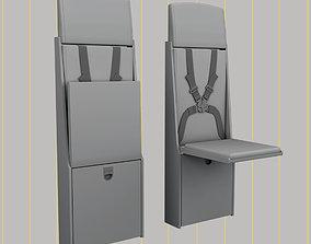 flight attendant chair 3D