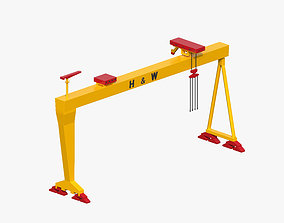 Harland and Wolff Gantry Crane port 3D