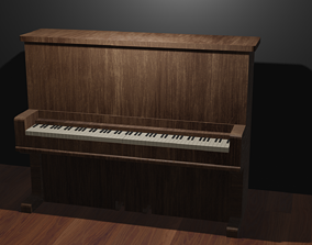Old piano model 3D