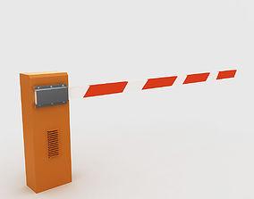 road 3D model Boom Gate