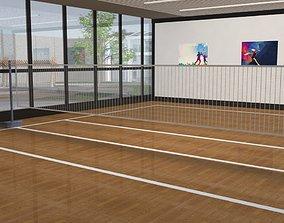 3D model Indoor badminton court