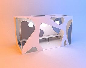 Abstract original scifi bus stop 3D
