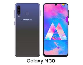 Samsung Galaxy M30 Blue 3D