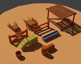 Low Poly Farm Miscellaneous 3D model